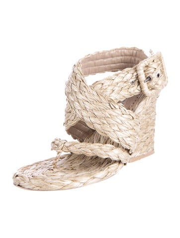 Woven Straw Sandals