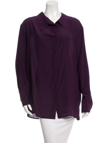 Stella McCartney Silk Button Up Top None