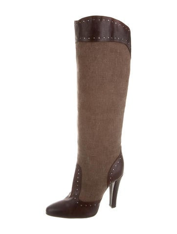 stella mccartney canvas knee high boots shoes stl38317