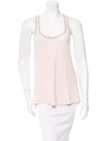 Stella McCartney Sleeveless Scoop Neck Top None