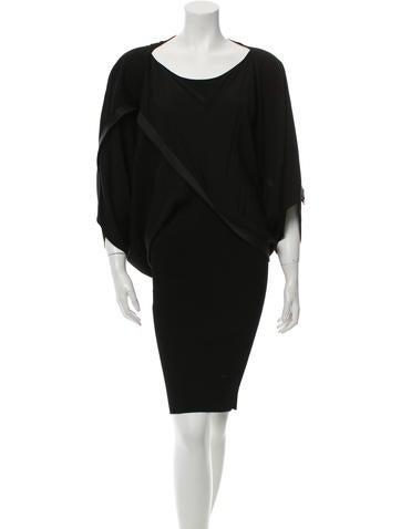 Stella McCartney Short Sleeve Knee-Length Dress None
