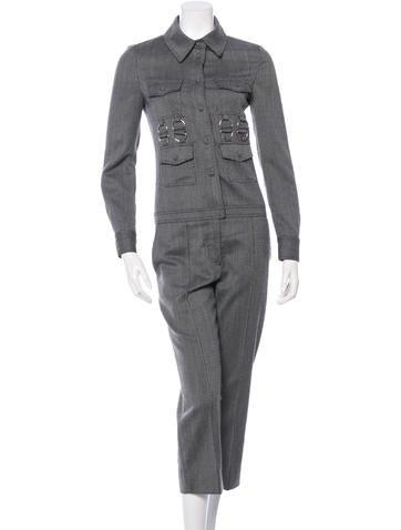 Stella McCartney Wool Tweed Jumpsuit None