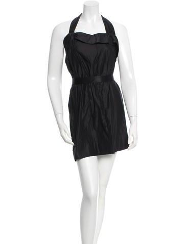 Stella McCartney One-Shoulder Silk Dress None