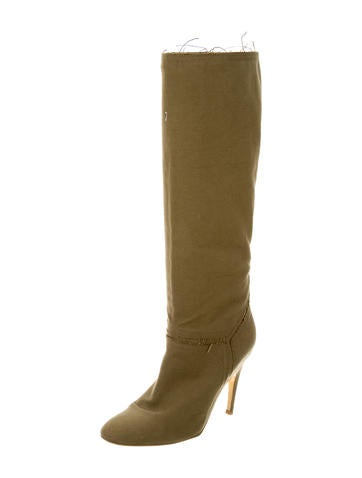 stella mccartney canvas knee high boots shoes stl40040