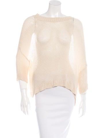 Stella McCartney Oversize Silk Sweater None