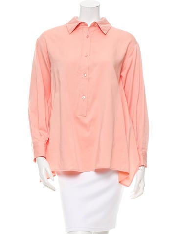 Stella McCartney Cropped Back Button-Up Top w/ Tags None