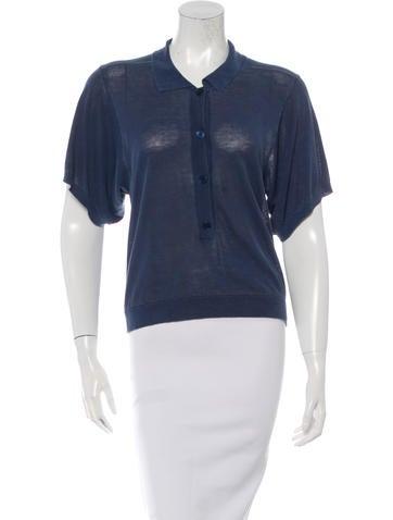 Stella McCartney Short Sleeve Polo Top None