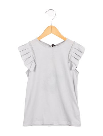 Stella McCartney Girls' Ruffle-Trimmed Sleeveless Top w/ Tags None