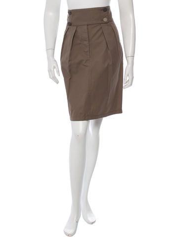 Stella McCartney Knee-Length Pleat-Accented Skirt
