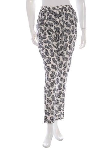 Stella McCartney Printed Silk Pants