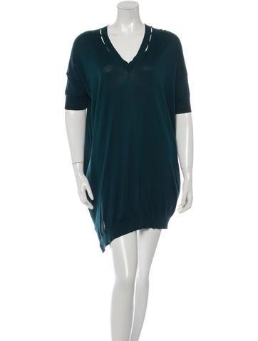 Stella McCartney Silk-Blend Mini Dress None