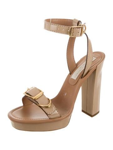 Vegan Patent Leather Platform Sandals