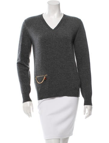 Stella McCartney Virgin Wool V-Neck Sweater w/ Tags None