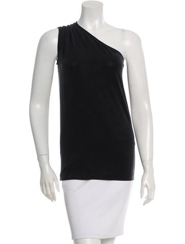 Stella McCartney Ruched One-Shoulder Top None