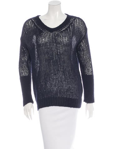 Stella McCartney Open Knit V-Neck Sweater None