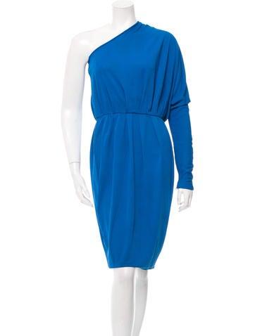 Stella McCartney Pleated One-Shoulder Dress None