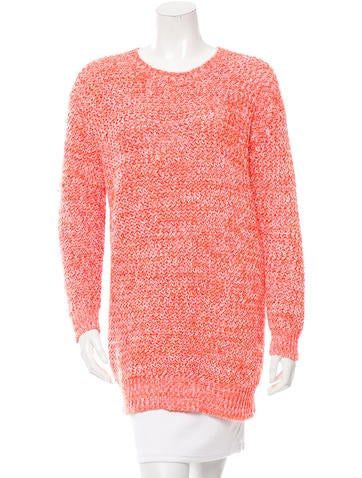Stella McCartney Open Knit Crew Neck Sweater None