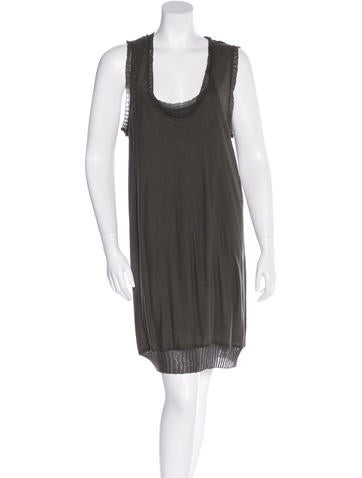 Stella McCartney Lace-Adccented Shift Dress None