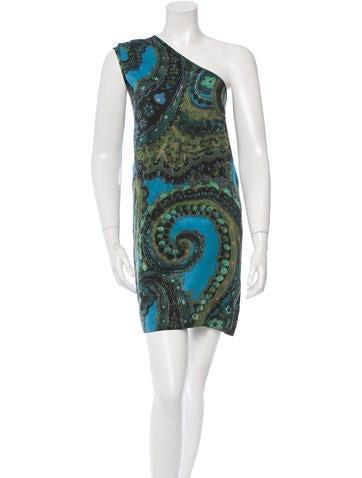 Stella McCartney Silk Abstract Print Dress None