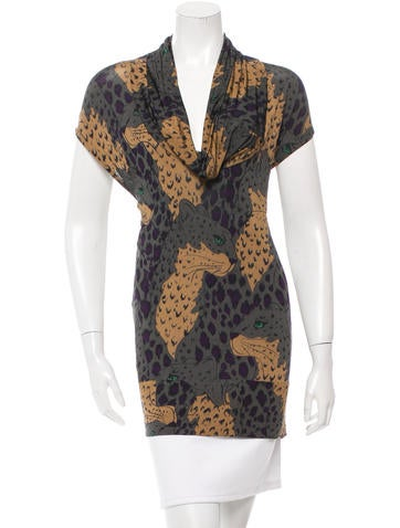 Stella McCartney Cowl Neck Sleeveless Tunic None