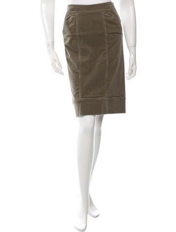 stella mccartney corduroy knee length skirt clothing
