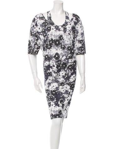 Stella McCartney Floral Print Cutout Dress None