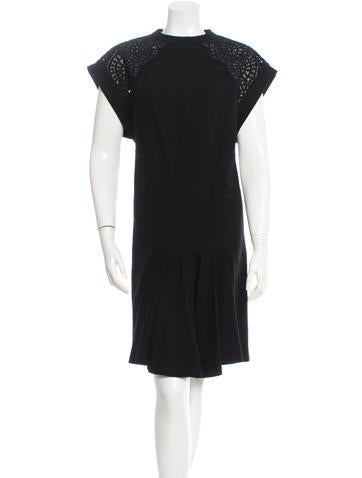 Stella McCartney Embroidered Knee-Length Dress None