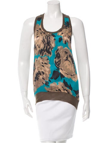 Stella McCartney Printed Sleeveless Top None