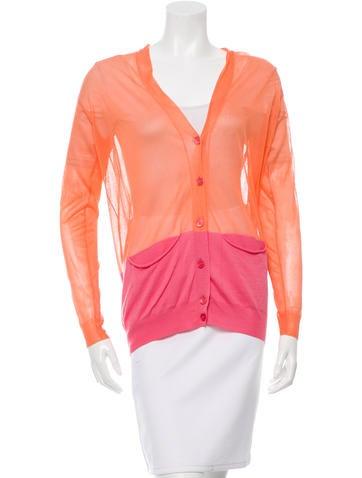 Stella McCartney Wool Colorblock Cardigan None