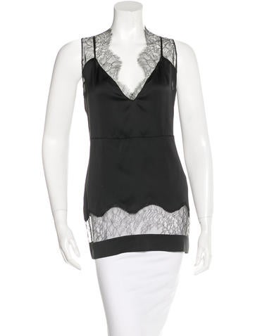 Stella McCartney Silk Lace-Trimmed Top w/ Tags None
