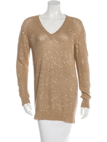Stella McCartney Sequin-Embellished Long Sleeve Top None
