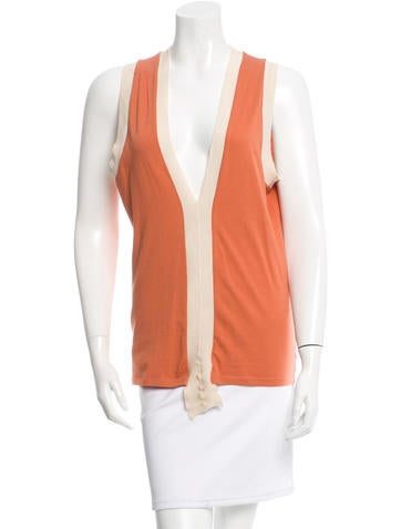 Stella McCartney Sleeveless V-Neck Top None