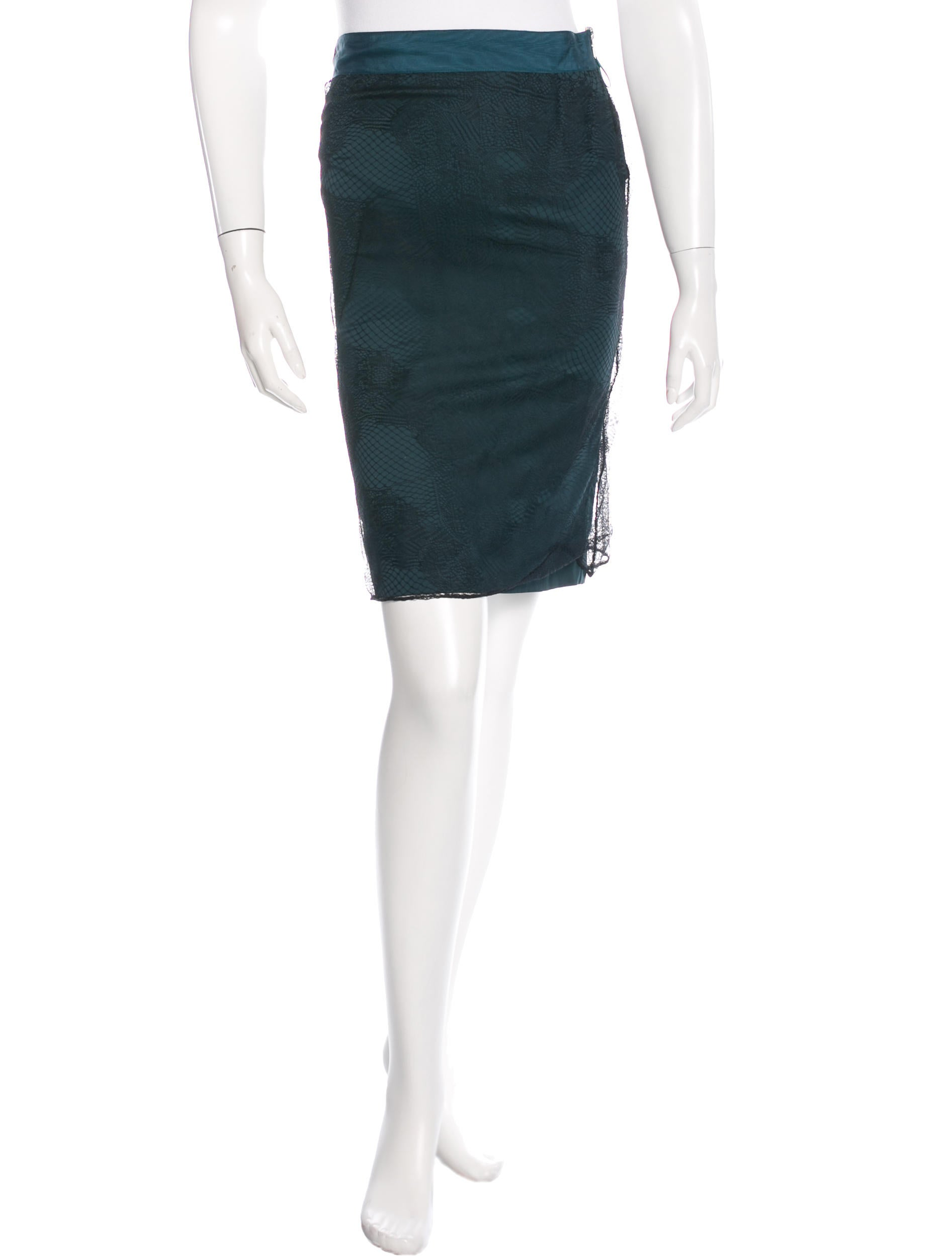 stella mccartney lace knee length skirt clothing