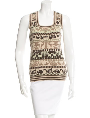Stella McCartney Patterned Wool Top None