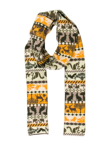 Stella McCartney Printed Wool Scarf None
