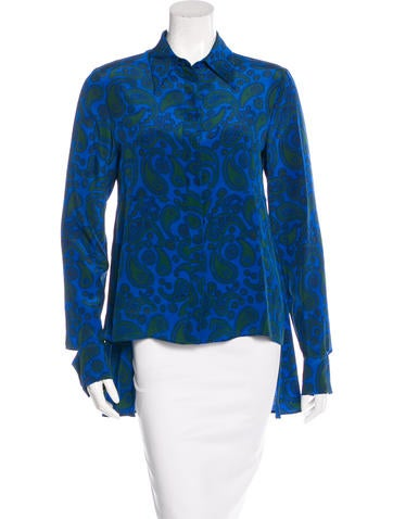 Stella McCartney Paisley Print Silk Top w/ Tags None