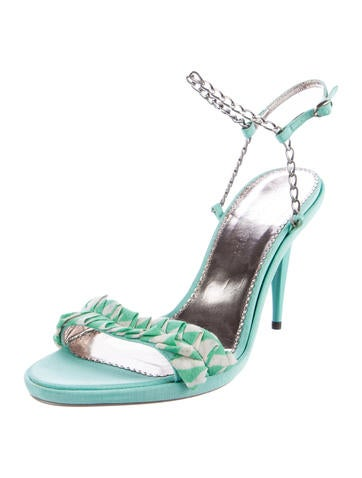 Chain-Link Ankle Strap Sandals