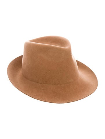 Light Brown Wool Fedora