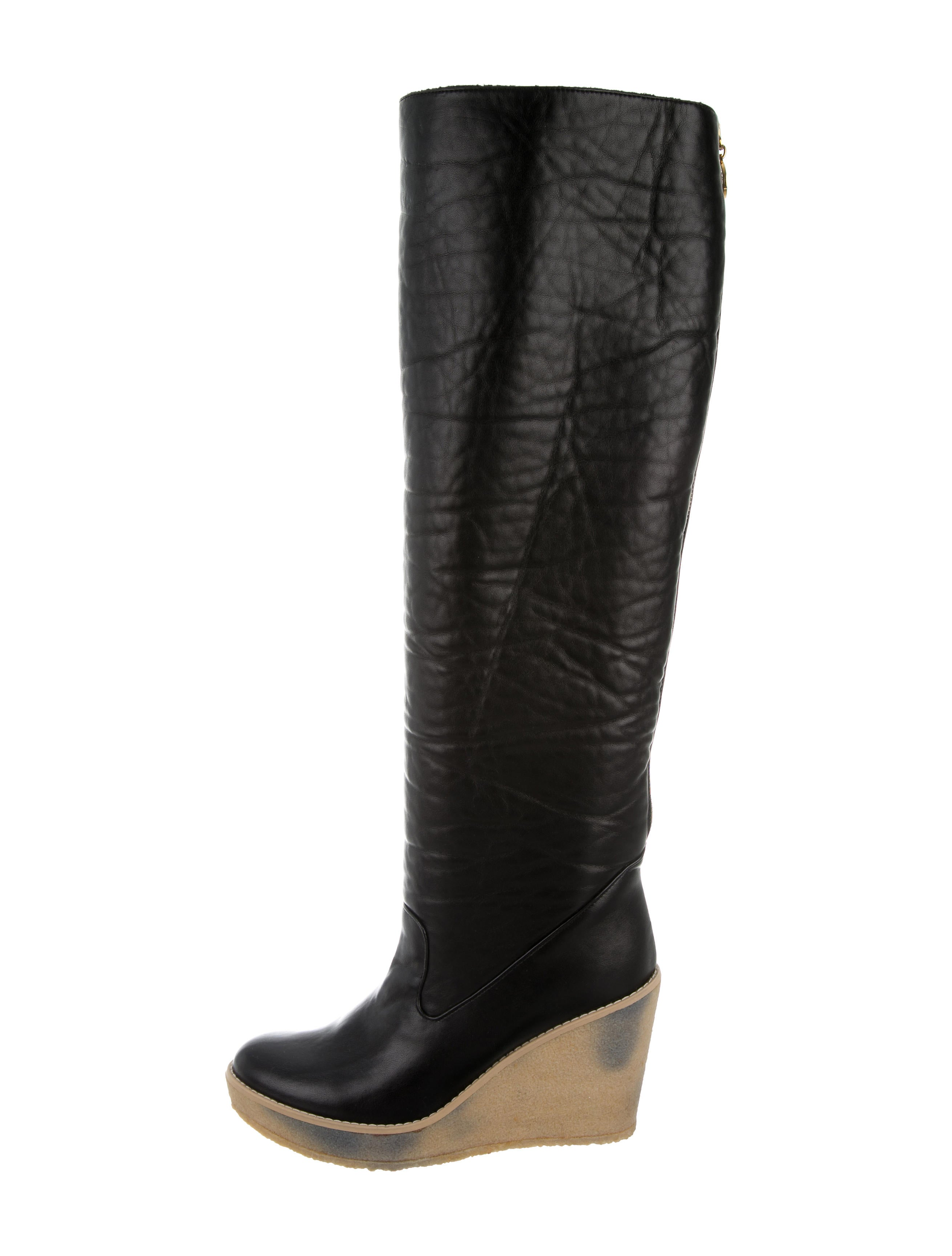 stella mccartney toe wedge boots shoes stl43675