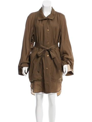 Stella McCartney Belted Silk-Blend Jacket