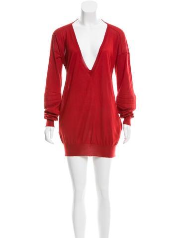 Stella McCartney V-Neck Cashmere Sweater Dress None