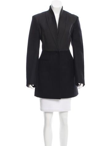 Stella McCartney Colorblock Wool Coat
