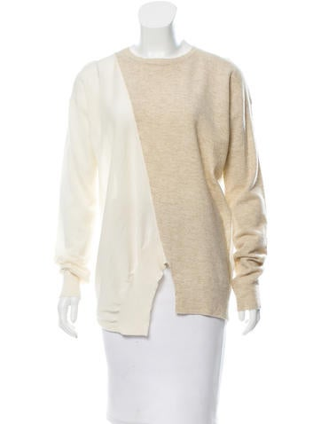 Stella McCartney Two-Tone Virgin Wool Sweater None