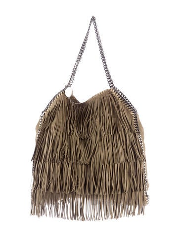Stella McCartney Shaggy Deer Large Fringe Falabella Tote None