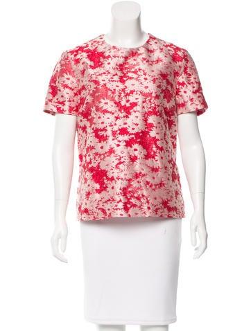 Stella McCartney Printed Short Sleeve Top w/ Tags None