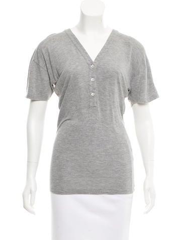 Stella McCartney Button-Up T-Shirt None