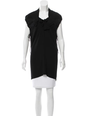 Stella McCartney Textured Sleeveless Tunic None