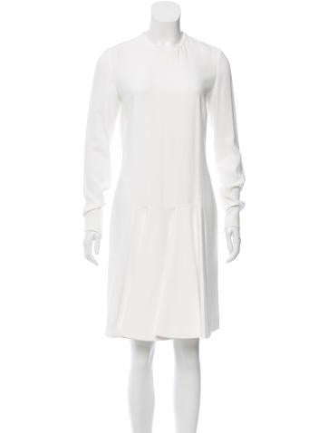 Stella McCartney Long Sleeve Pleated Dress