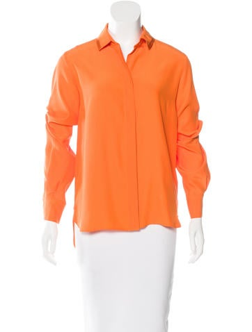 Stella McCartney Silk Button-Up Top None