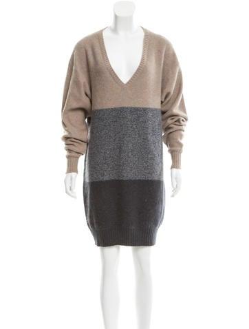 Stella McCartney Colorblock Wool Dress None